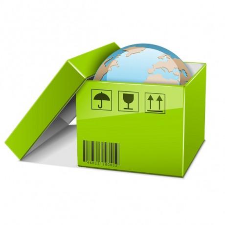 Vector world in green box