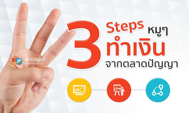 คอร์สออนไลน์ : 3 Steps หมูๆ ทำเงินจากตลาดปัญญา