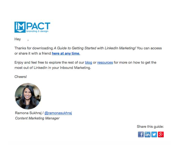 (Example: IMPACT Branding & Design)