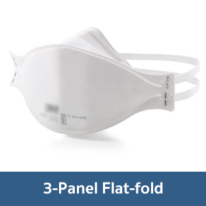 Particulate Respirator 3-Panel Flat-Fold